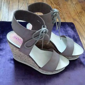 80%20 brown leather wedge sandals